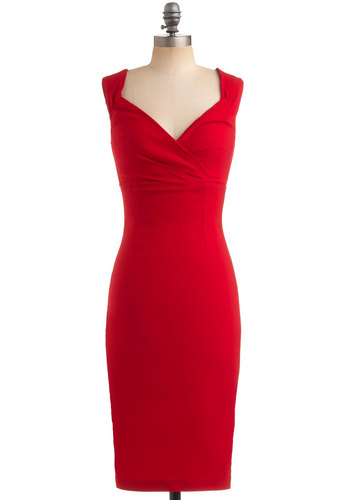 robe rouge modcloth