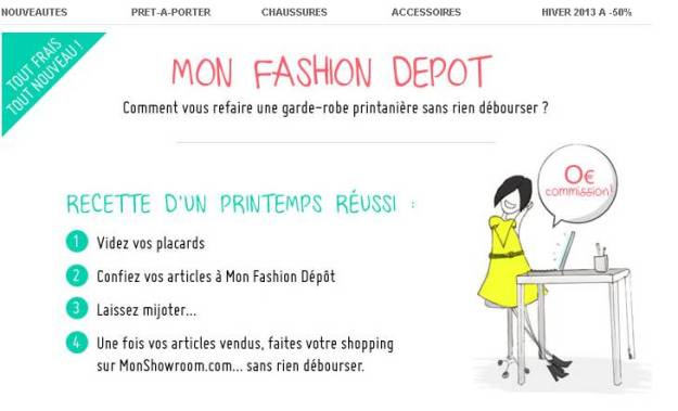 mon fashion dépot monshowroom