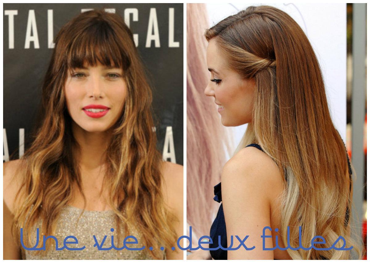 Cheveux une vie deux filles - Tie and dye sur cheveux chatain ...