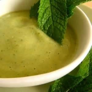 soupe courgette menthe